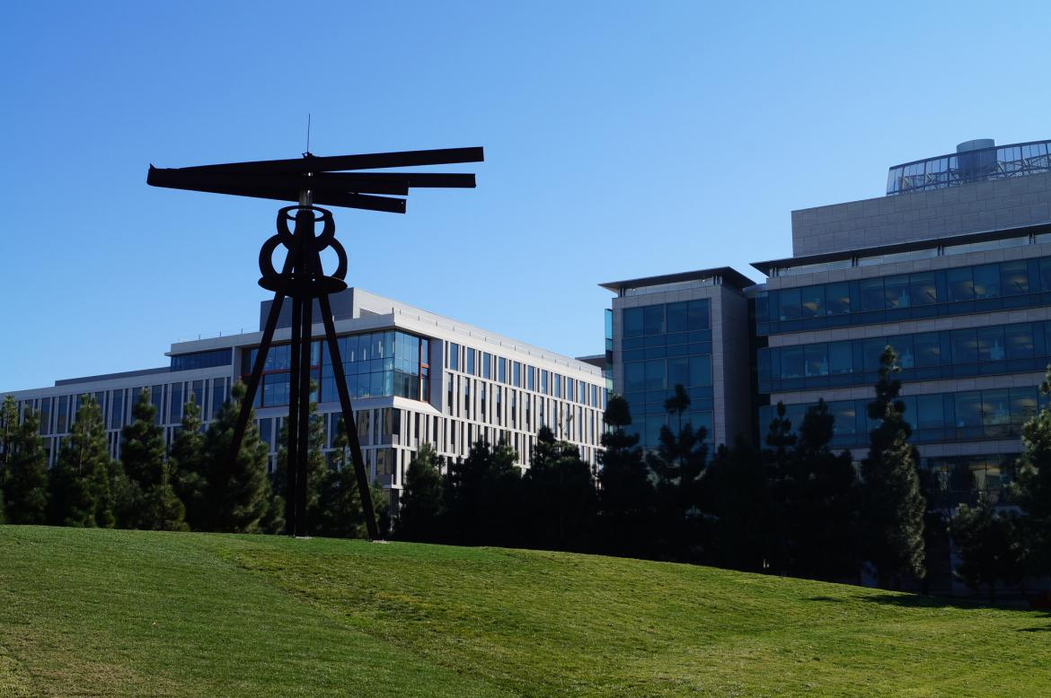 """""""Dreamcatcher"""" in its new home on the Koret Quad"""