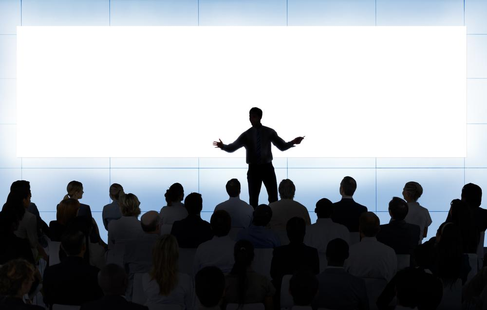 Art of a person giving a presentation